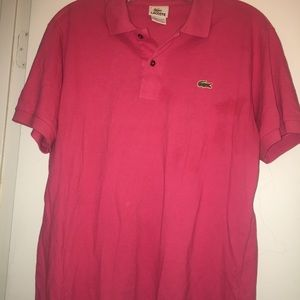 Lacoste Tops - Lacoste Polo Shirt Pink